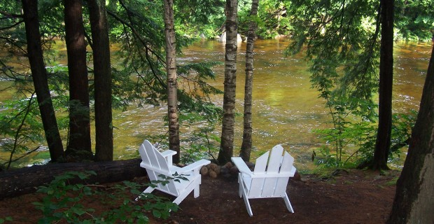 Enjoy the beauty of the Saco River in our backyard