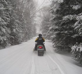 Snowmobile in White Mountain National Forest